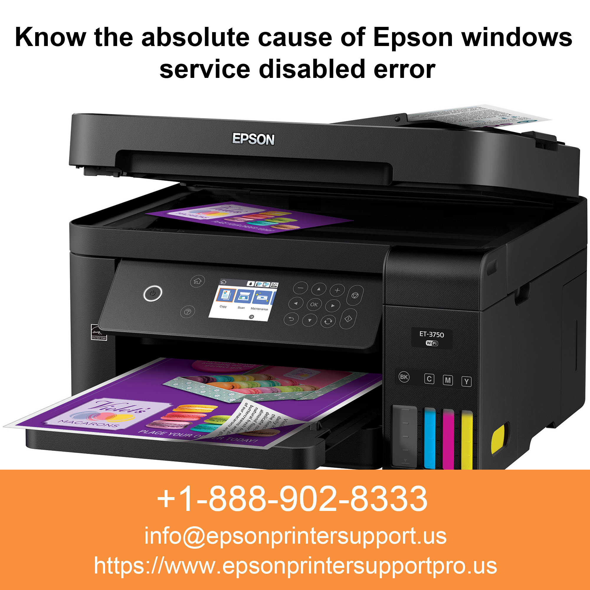 1-888-808-2666 Epson windows service disabled error
