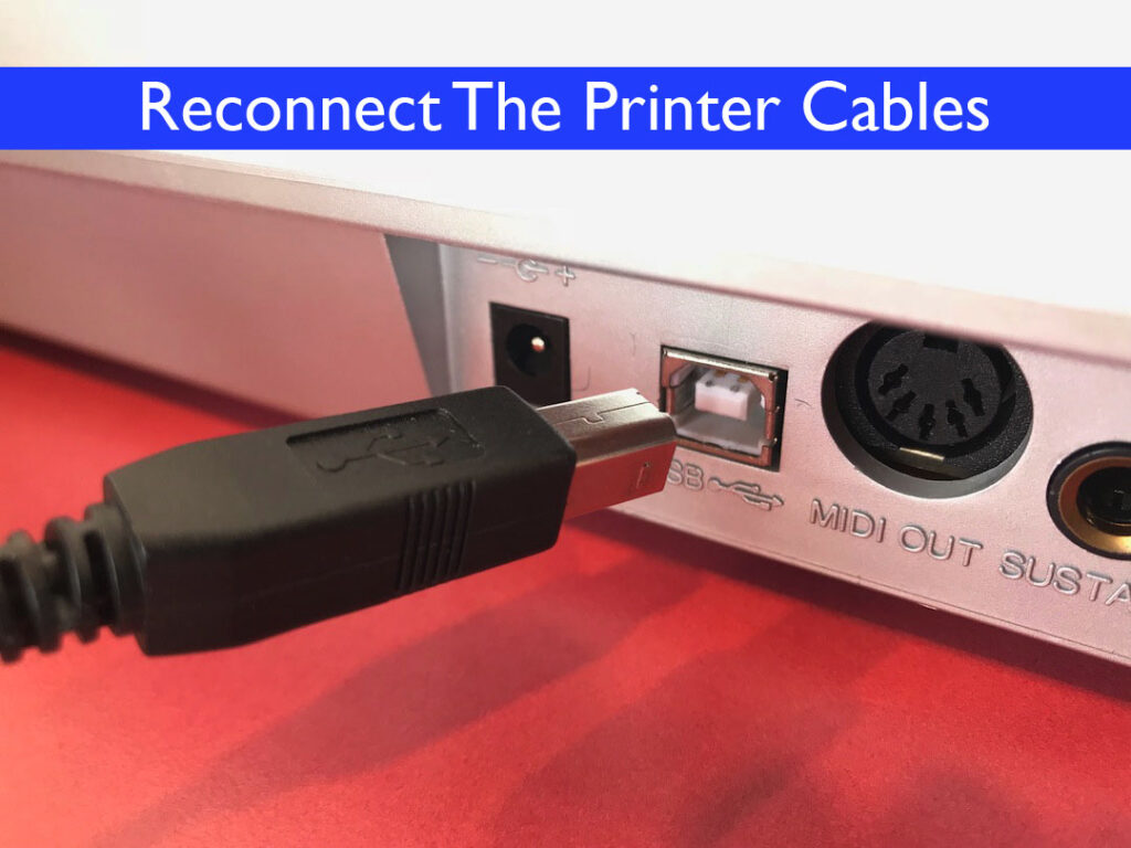 Reconnect the printer cables