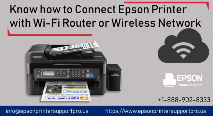 Epson printer with Wi-Fi router