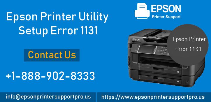 How to Fix Epson Error Printer Utility Setup Error 1131