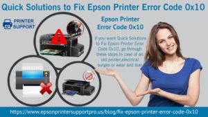 Epson Printer Error Code 0x10
