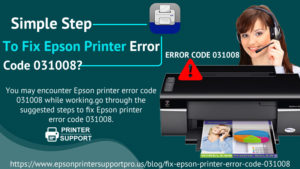 Epson printer error code 031008