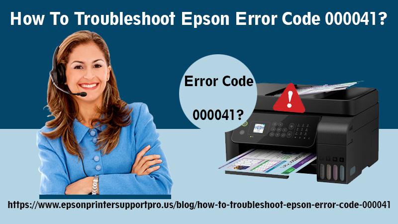 epson error code 000041