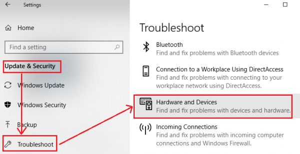 Troubleshoot USB Connection