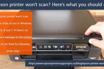 Epson printer won't scan
