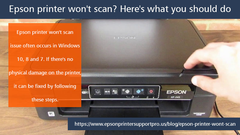 Epson printer won't scan