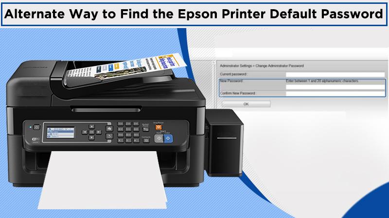 Alternate Way to Find the Epson Printer Default Password