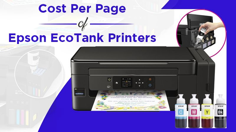 Cost per page of Epson EcoTank Printers