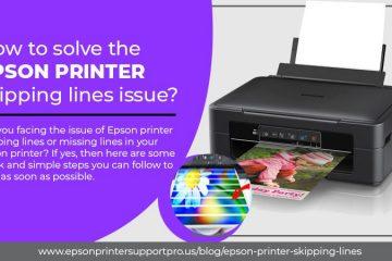 Epsonprinter skipping lines