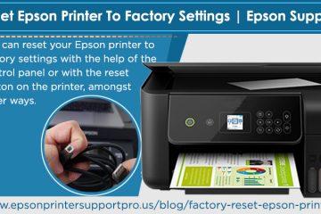 Factory reset Epson printer