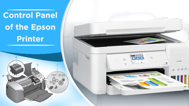 Control panel of the Epson printer
