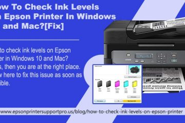 How To Check Ink Levels On Epson Printer