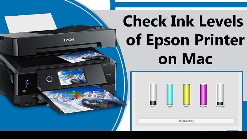 Check Ink Levels of Epson Printer on Mac