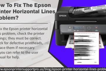 Epson Printer horizontal lines