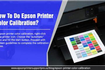 Epson printer color calibration