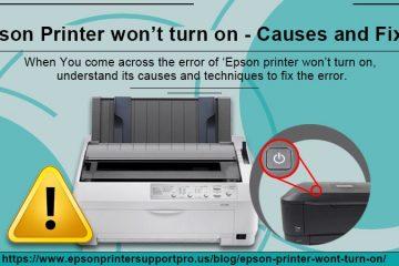 Epson printer won't turn on